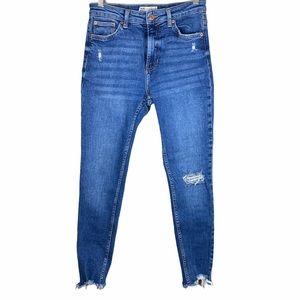 Bershka Denim Skinny Jeans Blue Size 6